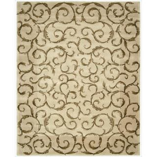 Nourison Hand-Tufted Versailles Palace Ivory Area Rug (7'6 x 9'6)