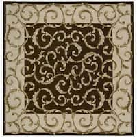 Nourison Traditional Hand-Tufted Versailles Palace Brown Rug - 8' x 8'