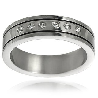 Vance Co. Stainless Steel Men's Wedding Band (6 mm)