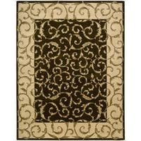 Nourison Hand-Tufted Versailles Palace Brown Wool Rug - 8' x 11'