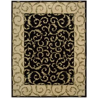 Nourison Hand-tufted Versailles Palace Black Rug (7'6 x 9'6)