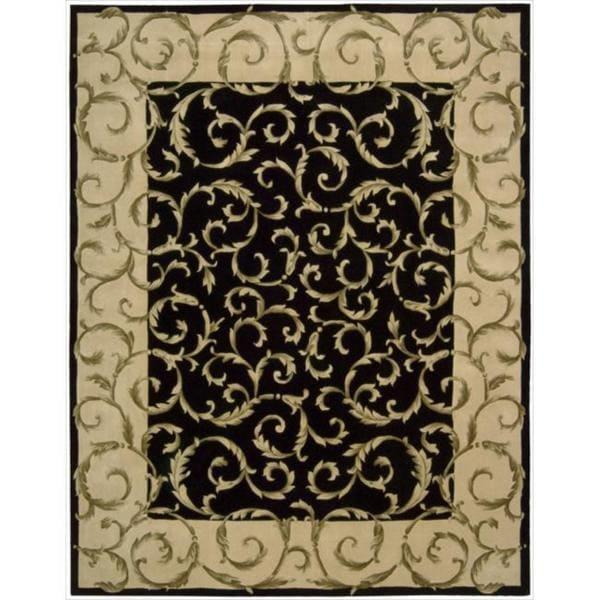Nourison Hand-tufted Versailles Palace Black Rug - 7'6 x 9'6