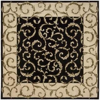 Nourison Hand-tufted Versailles Palace Black Rug (8' x 8') Square