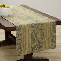 Corona Decor Extra Wide Italian Woven 95 x 26-inch Classic Gold Table Runner