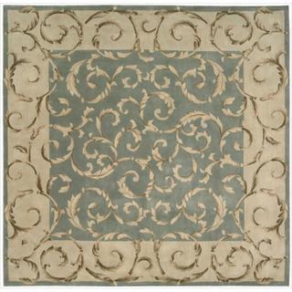 Nourison Hand-tufted Versailles Palace Aqua Green Rug (8' x 8') Square