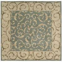Nourison Hand-tufted Versailles Palace Aqua Green Rug Square - 8' x 8'