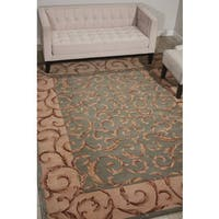 Nourison Hand-tufted Versailles Palace Aqua Green Rug - 7'9 x 9'6