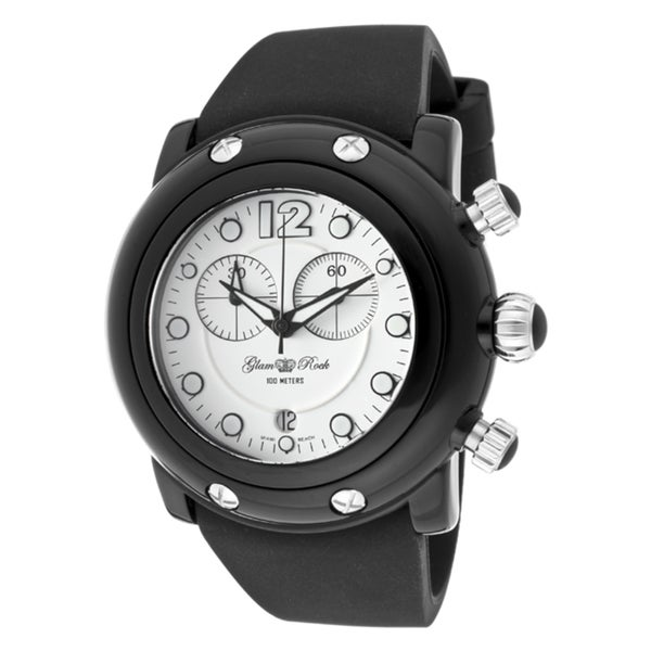 Glam Rock Women's 'Miami Beach' Black Silicone Watch