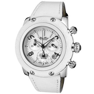 Glam Rock Women's 'Miami' White Genuine Calf Leather Watch