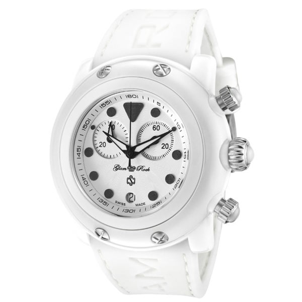 Glam Rock Women's 'Miami Beach' White Silicone Watch
