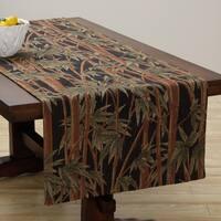 Corona Decor Extra Wide Italian Woven 95 x 26-inch Tropical Plant Table Runner