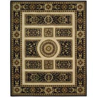 Nourison Hand-tufted Versailles Palace Ivory/Black Rug - 5'3 x 8'3