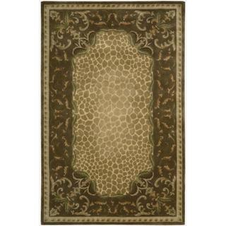 Nourison Hand-tufted Versailles Palace Floral Brown Rug (7'6 x 9'6)