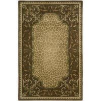 Nourison Hand-tufted Versailles Palace Floral Brown Rug - 7'6 x 9'6