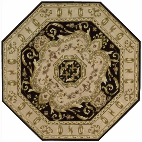 Shop Nourison Hand Tufted Versailles Palace Black Floral