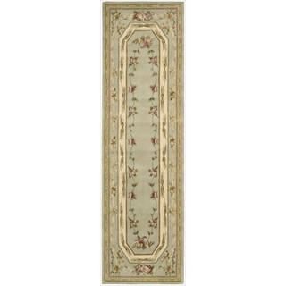Nourison Hand-tufted Versailles Palace Aqua Rug (3'6 x 5'6)