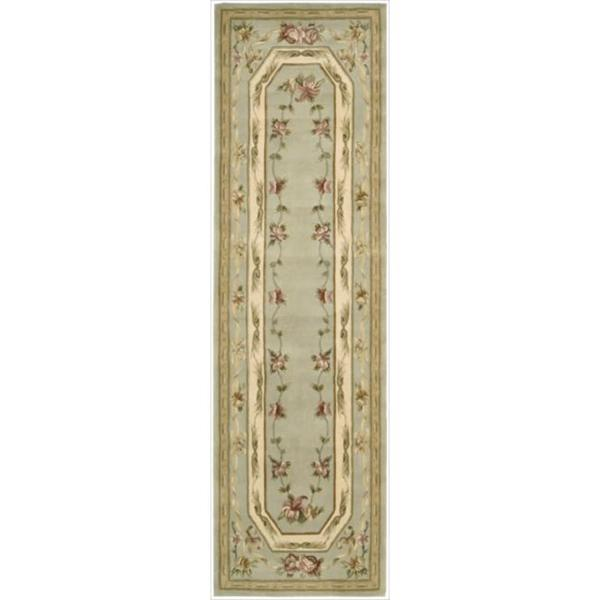 Nourison Hand-tufted Versailles Palace Aqua Rug (2'3 x 8') Runner