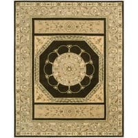 Nourison Hand-tufted Versailles Palace Brown Rug (8' x 11') - 8' x 11'