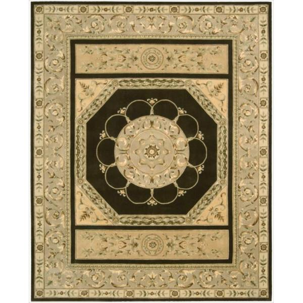 Nourison Hand-tufted Versailles Palace Brown Rug (8' x 11')