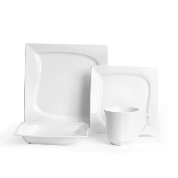 Red Vanilla 'Niagara' White 16-piece Dinner Set