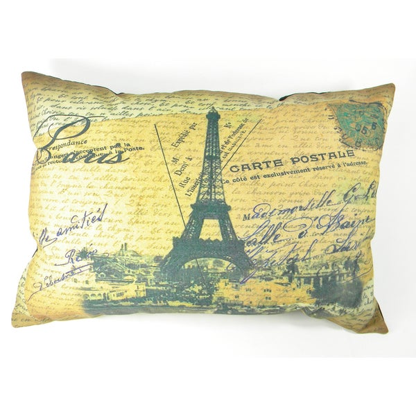 Paris Eiffel Tower Printed Cushion Cover
