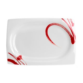 Red Vanilla 'Paint it Red' 15-inch Rectangular Platter