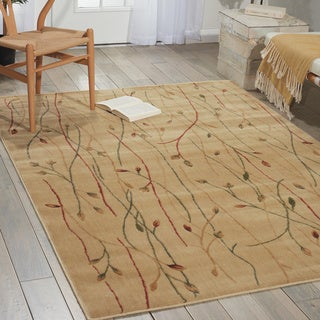 Cambridge Budding Vine Ivory Rug (7'9 x 10'10)