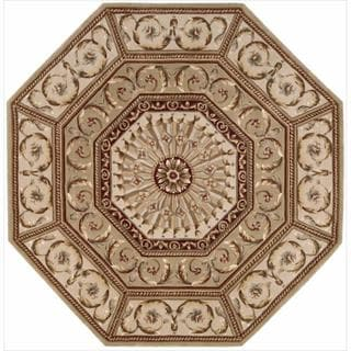 Nourison Hand-tufted Versailles Palace Sage Rug (6' x 6') Octagon