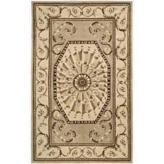 Nourison Hand-tufted Versailles Palace Sage Rug (3'6 x 5'6)