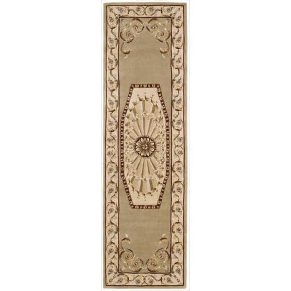 Nourison Hand-tufted Versailles Palace Sage Rug (2'3 x 8') Runner