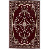 Nourison Hand-tufted Versailles Palace Brick Red Rug (5'3 x 8'3) - 5'3 x 8'3