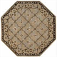 Nourison Hand-tufted Versailles Palace Beige/Blue Rug Octagon - 6' x 6'