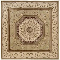 Nourison Hand-tufted Versailles Palace Sage Rug (8' x 8') Square