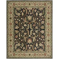 Living Treasures Midnight Wool Rug - 5'6 x 8'3
