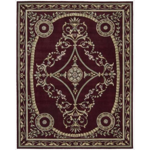 Nourison Hand-tufted Versailles Palace Brick Red Rug (9'6 x 13'6)