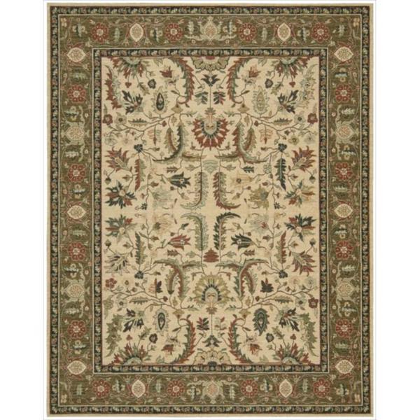Living Treasures Ivory Khaki Wool Rug (9'9 x 13'9)