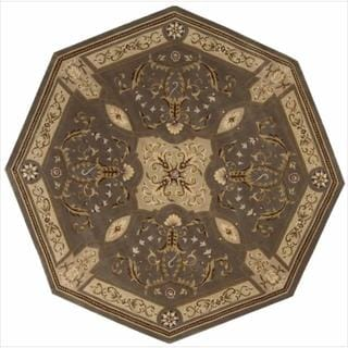 Nourison Hand-tufted Versailles Palace Mushroom Rug (6' x 6') Octagon
