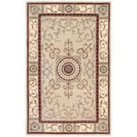 Nourison Hand-tufted Versailles Palace Beige/Red Rug - 5'3 x 8'3