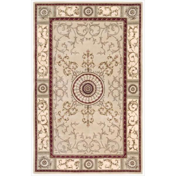 Nourison Hand-tufted Versailles Palace Beige/Red Rug (5'3 x 8'3) - 5'3 x 8'3