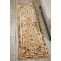 Nourison Hand-tufted Versailles Palace Blush Rug (3'6 x 5'6) - 3'6 x 5'6