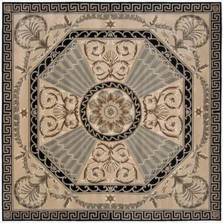 Nourison Hand-tufted Versailles Palace Beige/ Green Rug (8' x 8') Square