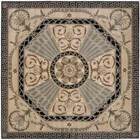 Nourison Hand-tufted Versailles Palace Beige/ Green Rug Square - 8' x 8'