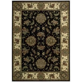Cambridge Persian Splendor Black Rug (5'3 x 7'4)