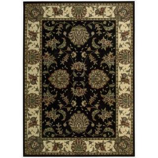 Cambridge Persian Splendor Black Rug (5'3 x 7'4)
