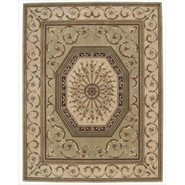 Nourison Hand-tufted Versailles Palace Sage Rug (7'6 x 9'6)