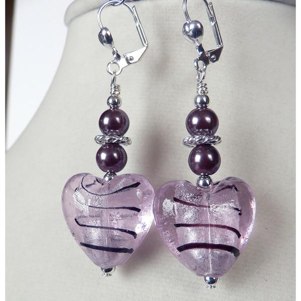 'Gilda' Puffed Heart Dangle Earrings