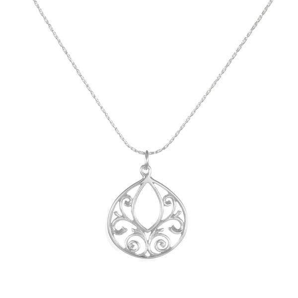 fdd86429f14bc Shop Handmade Jewelry by Dawn Fancy Filigree Teardrop Dainty ...