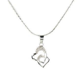 Jewelry by Dawn Double Heart Sterling Silver Necklace