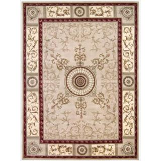 Nourison Hand-tufted Versailles Palace Beige/Red Rug (9'6 x 13')