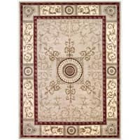 Nourison Hand-tufted Versailles Palace Beige/Red Rug - 9'6 x 13'